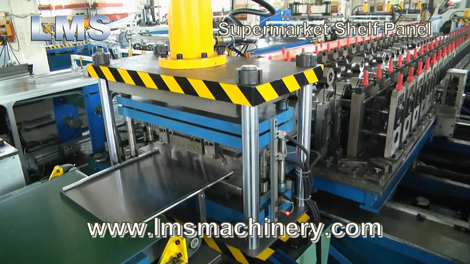 LMS Supermarket Shelf Panel Roll Forming Production Line