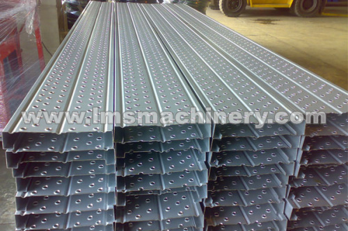 step panel made by roll forming machine