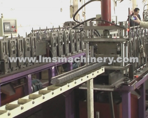 Rack Upright Roll Forming with On-Line Hole Punching